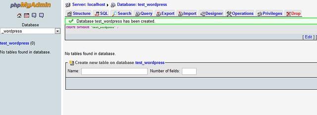 Tạo database thành công