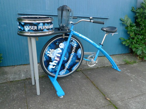 bike powered Spin Art