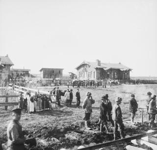 Jernbanestasjonen Nansenovka oppkalt til ære for Fridtjof Nansen.