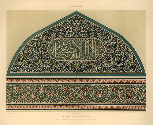 006-Tekyeh de los Derviches-L'art arabe d'apres les monuments du Kaire…Vol 2-1877- Achille Prisse d'Avennes y otros.
