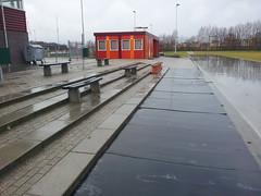 De rubbermatten liggen weer klaar voor het schaatsseizoen