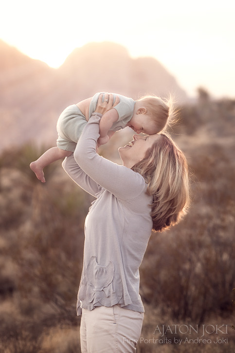 las vegas family session desert canyons sunset