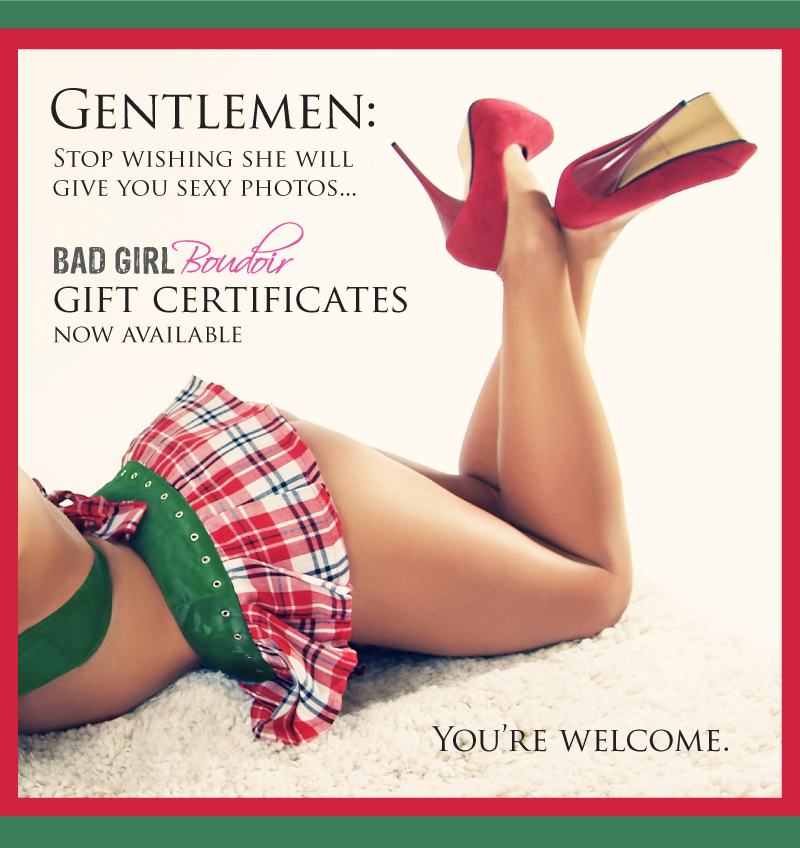 Boudoir Gift Certificate Gift Card // Sexy Christmas Gift
