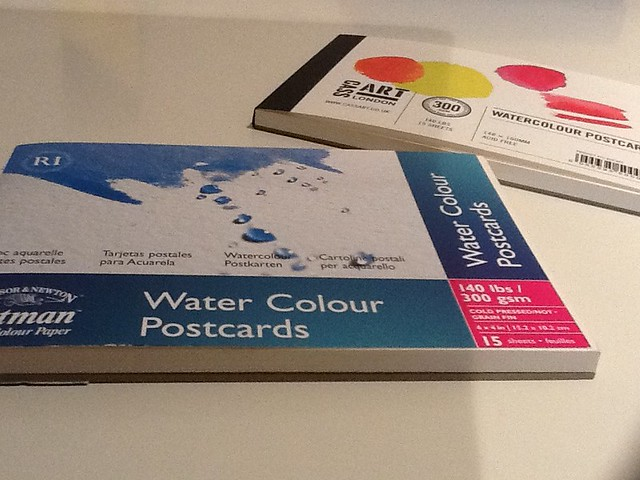 Water colocar postcards