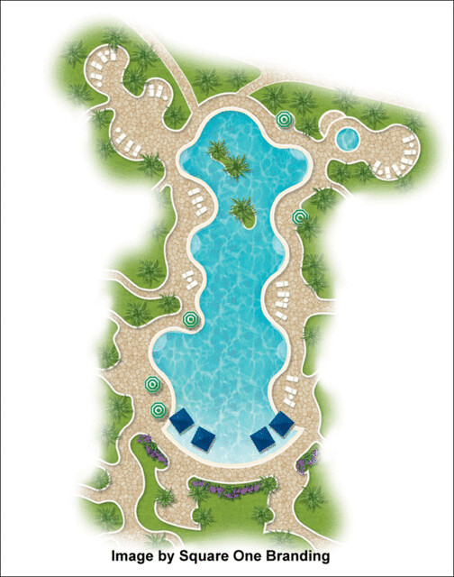 2d Landscape Plan Using Landscape Architecture Symbols ...