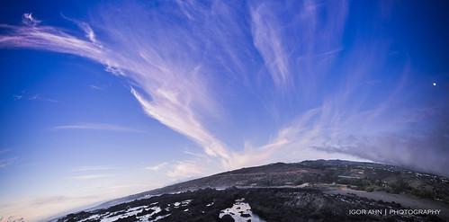 blue sunset sky clouds nikon bleu ciel nuages coucherdesoleil iledelaréunion d90 igorahn