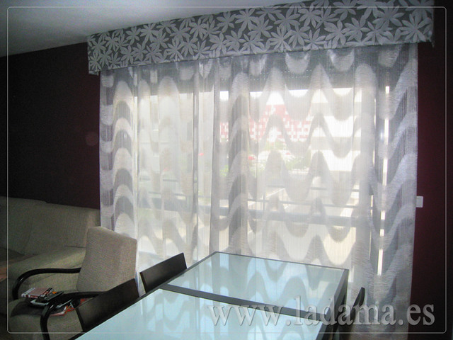 Decoraci n para salones modernos cortinas paneles - Cortinas para salones pequenos ...