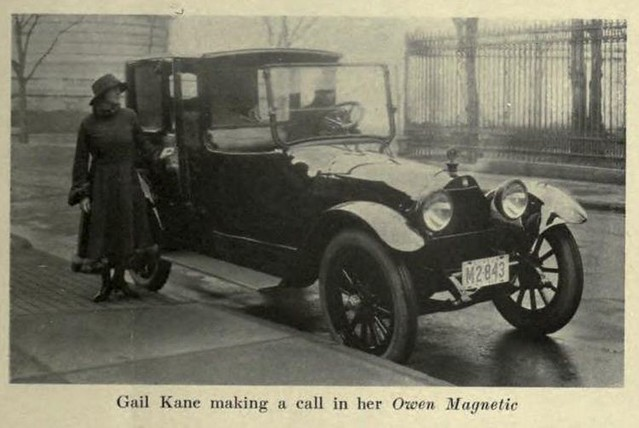 Gail Kane with her Owen Magnetic 1917