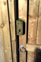 My side gate with a new lock fitted