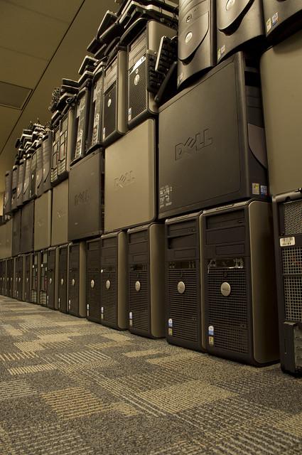 wall of PCs