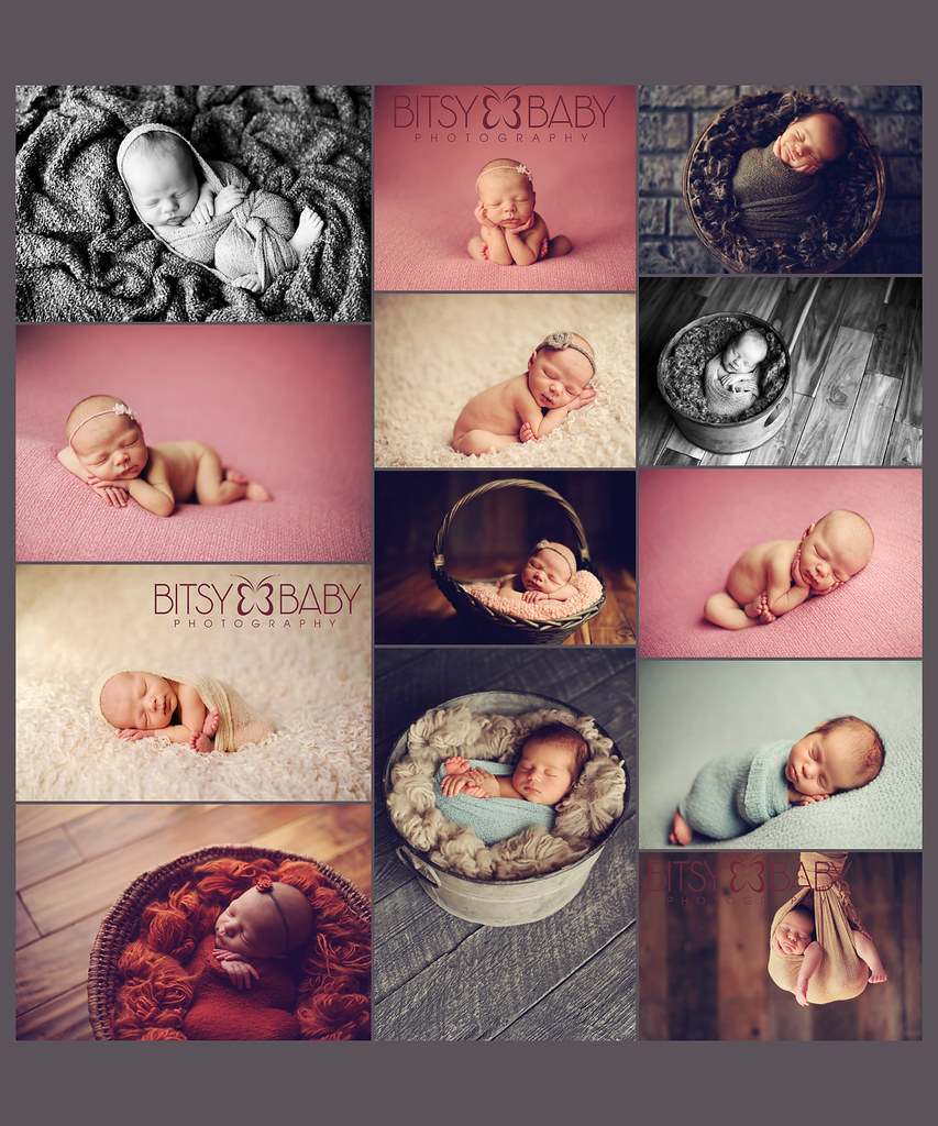 newborn baby photography workshop, Newborn Dreamland collage