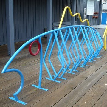 dero-artistic_bike_rack-The Fish _Blue