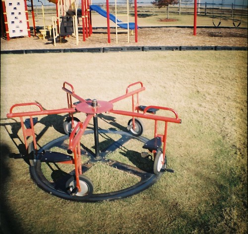 Red Playground Equpment