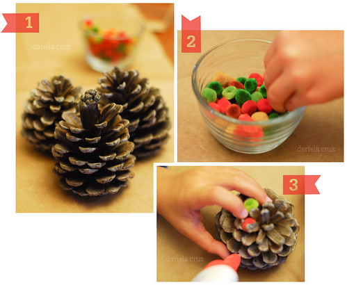 Pine Cone ornaments Step by Step