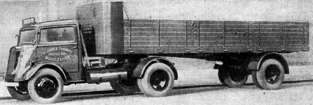 "Ford Thames 7V articulated lorry ""H & G Thorpe (Haulier)"", Mendlesham"