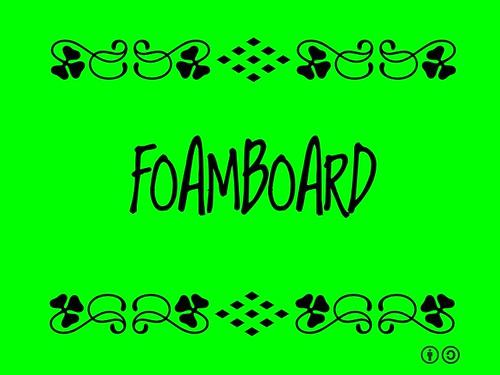 Buzzword Bingo: Foamboard (2011)