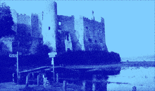 Castle - Halftone (Blue)