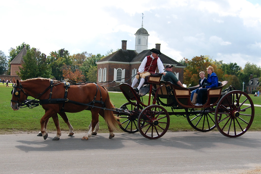 Horse drawn carriage -- Colonial Williamsburg   Colonial ...