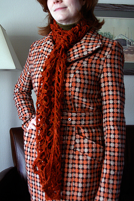 Treillage Scarf with my new coat