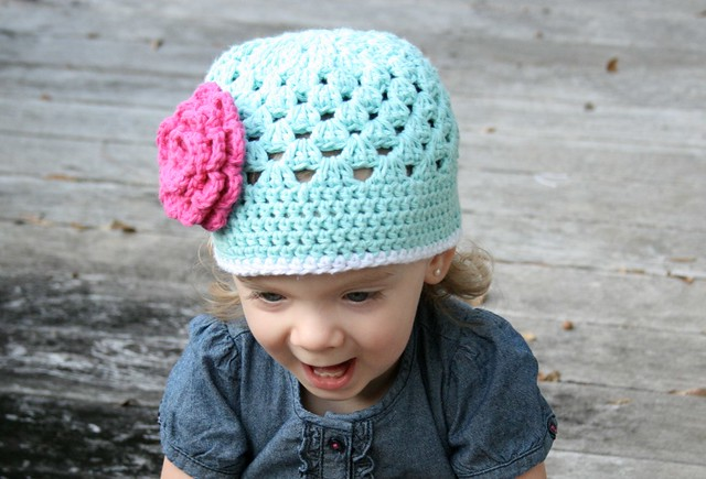 Open Weave Beanie Front View (2)