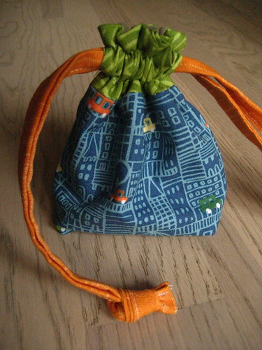 tiny drawstring bag cars
