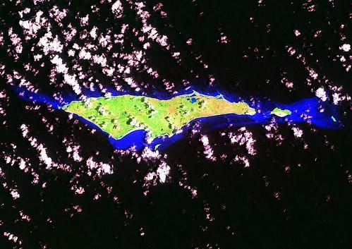 Samana Cay - Landsat ETM+ Image N-18-20_2000 (1-85,000)