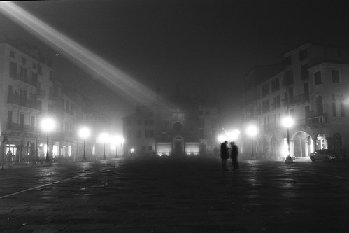 Padova, fog, it's Christmas