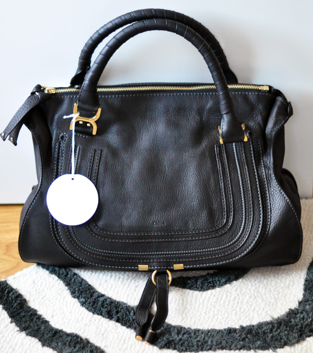 chloe marcie bag large black