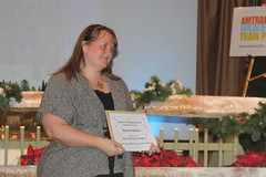 Me with my certificate!