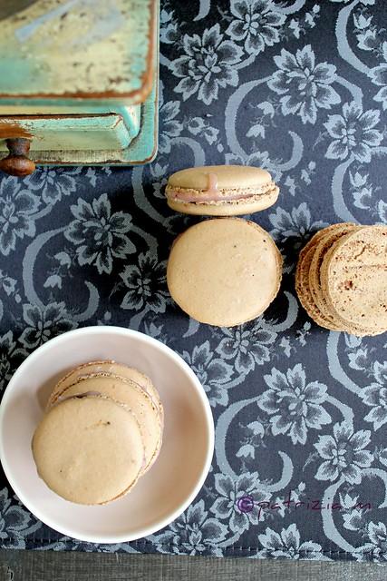 Macarons caffé e fragole