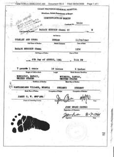 Obama's Kenyan Birth Certificate?