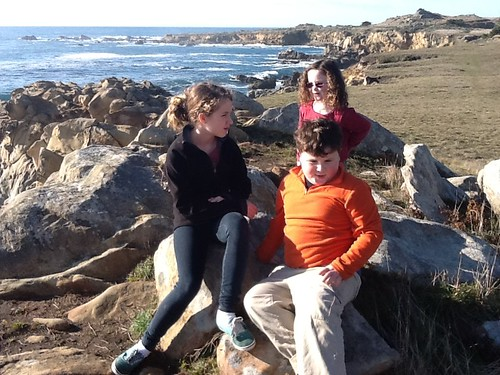 Kids at One of Salt Point's Coves