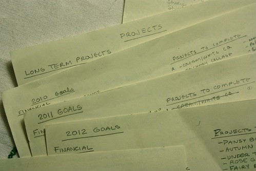 Goal Lists