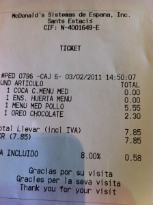 McDonalds | Ticket