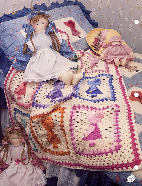 Annies Attic Crochet Patterns : Sunbonnet Sue Crochet Afghan Pattern - Annies Attic back Flickr ...
