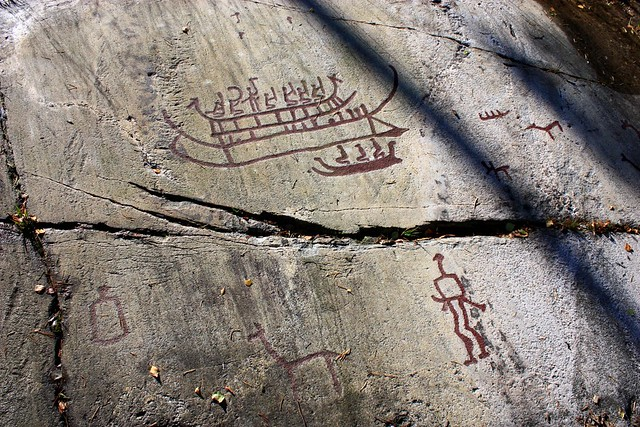 Detail of ancient rock carvings in tanum sweden flickr