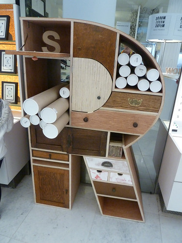 'R' cabinet in Selfridges concept store, 'Words, Words, Words'