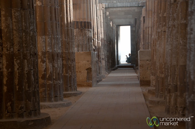 Columned Entrance to Saqqara - Egypt