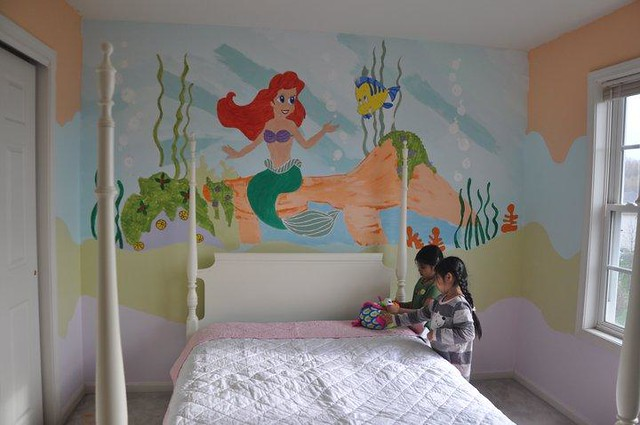 Little mermaid wall mural flickr photo sharing for Ariel wall mural