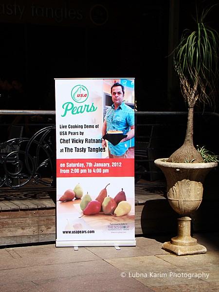 Chef Ratnani's Cooking Demo on USA  Pears