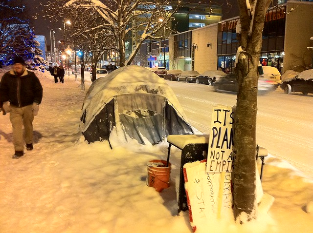 Occupy Anchorage tents - January 7th, 2012