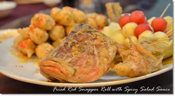 Fried Red Snapper Roll