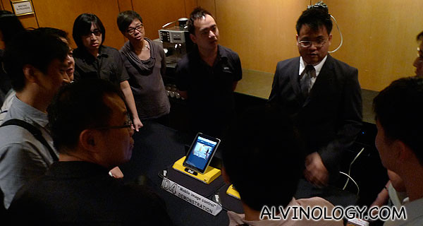 Product demonstation by Nikon's staff