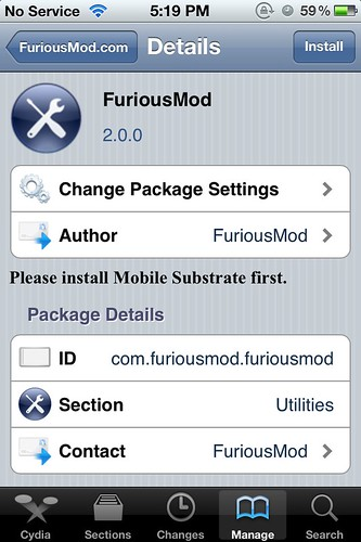 FuriousMod 2.0 - iOS 5.0.1