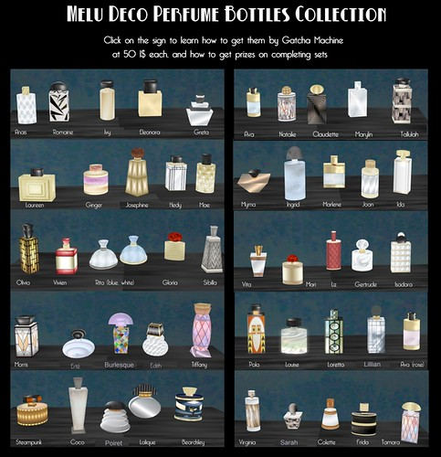 Melu Deco Perfume Bottles Collection