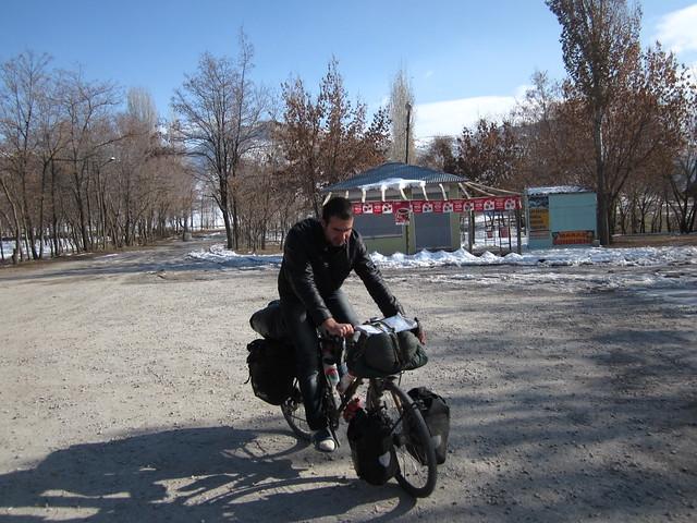 Arhan on my bike