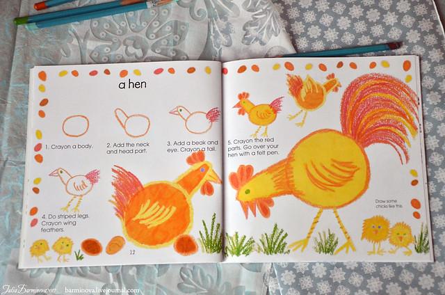 Draw animals-8-hen