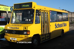SB3 7017 PF Mercedes-Benz 811D Marshall. Travel Dundee Depot East Dock st Depot DUNDEE