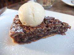 Pecan pie and whisky ice cream