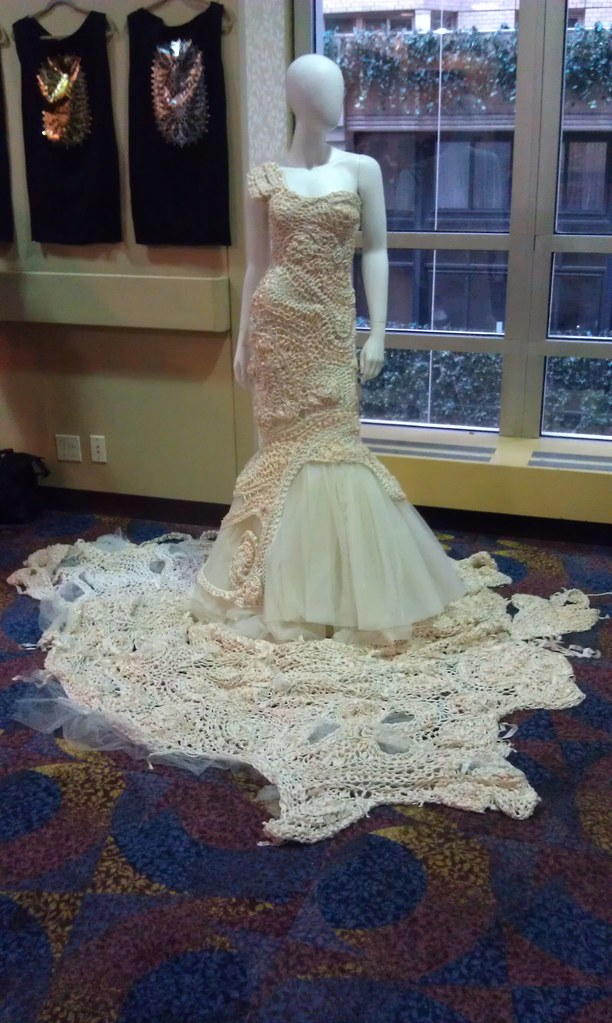 A Beautiful Crocheted Wedding Dress